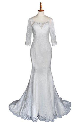 beautiful simple lace wedding dresses - 5