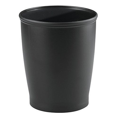 InterDesign 93437 Kent Wastebasket Trash Can for Bathroom, Kitchen, Office, Black