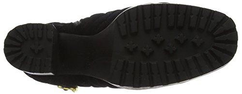 Schwarz Hisani West Damen Nine Combat Black Boots wZXZq