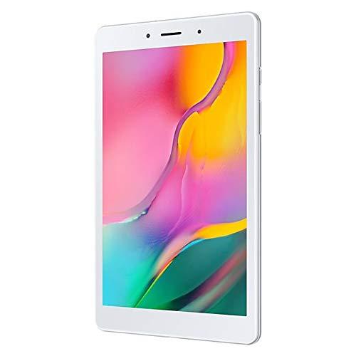 "Samsung Galaxy Tab A 8.0"" (2019, WiFi + Cellular) 32GB, 5100mAh Battery, 4G LTE Tablet & Phone (Makes Calls) GSM Unlocked SM-T295, International Model (32GB + 64GB SD Bundle, Silver)"