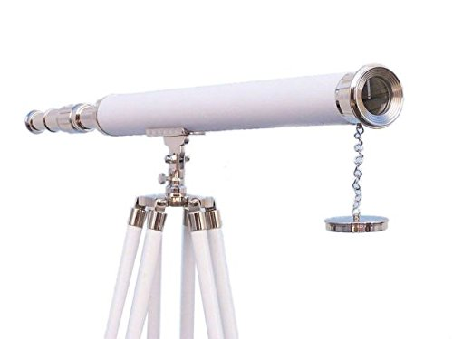 Nautical Decor Floor Standing Chrome Telescope 40'' - Nautical Marine Telescope by NauticalMart