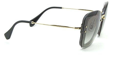 1c1dd23ea70c Miu Miu 02TS Sunglasses for Women Gradient Reveal Glitter Fame UES0A7   Amazon.co.uk  Clothing