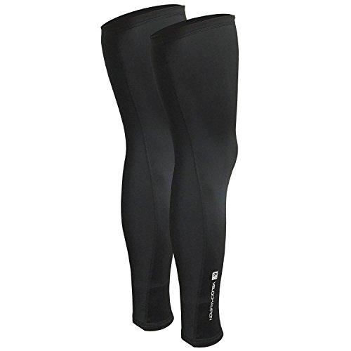 VeloChampion Thermo Tech Lite Rad-Beinstulpen, Schwarz Cycling Leg Warmers Black (Black, Large)