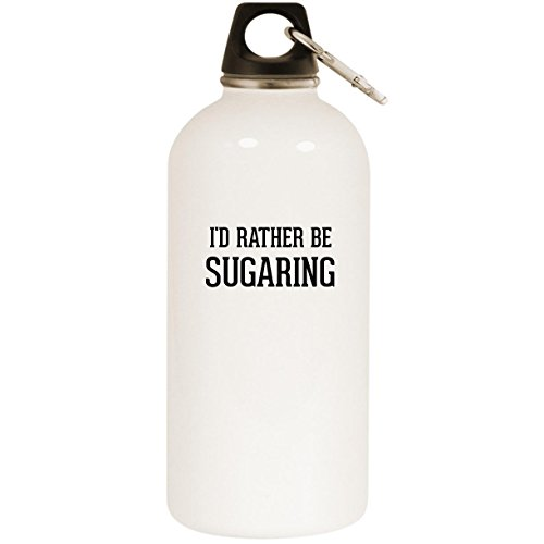I'd Rather Be SUGARING - White 20oz Stainless Steel Water Bottle with Carabiner by Molandra Products