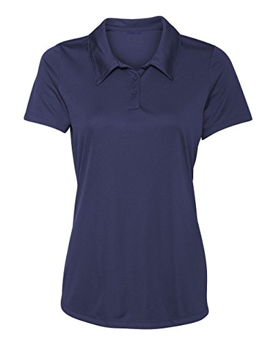 Women's Dry-Fit Golf Polo Shirts 3-Button Golf Polo's in 20 Colors XS-3XL Shirt NAVY-M