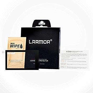 GGS LARMOR Screen Protector for FUJIFILM X-E2/X-E2S/X-100T, from Tempered Glass Foil, Self-Adhesive, 4th Generation
