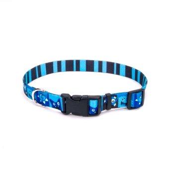 Petco Blue Happy Monster Nylon Adjustable Dog Collar, Large