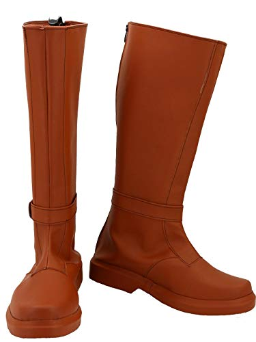 GOTEDDY Adult Knight Cosplay Boots Leather Shoes Costume Knee High Boots]()