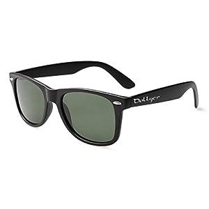 Dollger Polarized Wayfarer Sunglasses Classic Retro Black 80's Sunglasses for Men