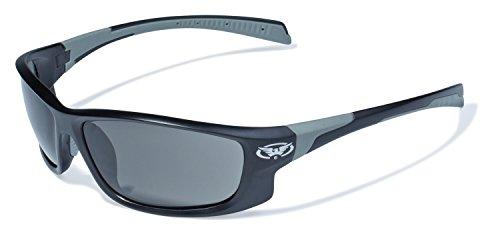 Global Vision Eyewear Hercules 5 Safety Glasses, Smoke Lens, Matte Black Frame