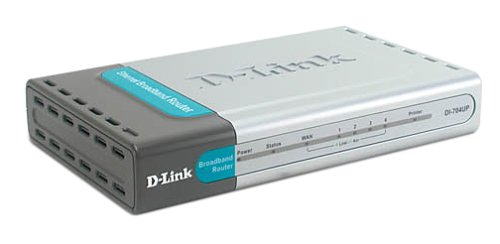 D-Link DI-704UP Cable/DSL Router, 4-Port Switch, USB Print Server by D-Link