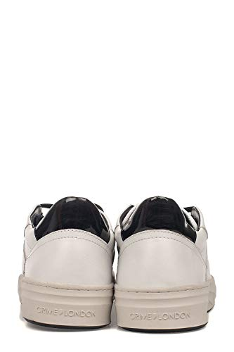 in Sneakers pelle bianca 11603aa1b10 Crime London Uomo wU7CCI