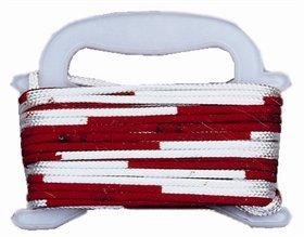 Faustball-Wettspielleine, rot/weiß (Stück)