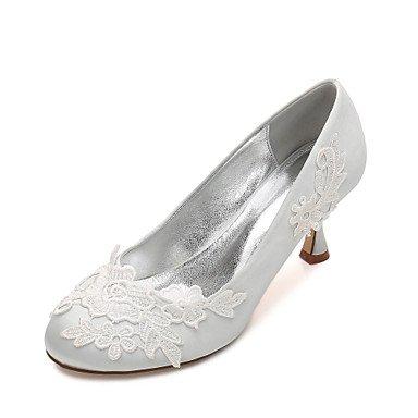 RTRY Las Mujeres'S Wedding Shoes Confort Satin Primavera Verano Boda Vestido De Noche &Amp; Rhinestone Bowknot Champán Heelivory Plana Rubí Azul US7.5 / EU38 / UK5.5 / CN38