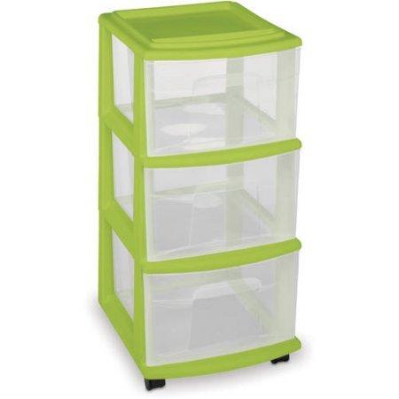 Homz 3 Drawer Medium Cart Storage Organizer Includes Set Of 4 Casters, Set  Of