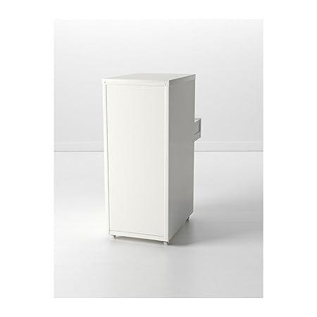 Ikea Helmer - Unidad de cajón con Ruedas, Blanco - 28x69 cm ...
