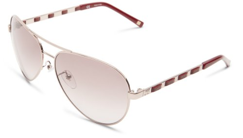 Escada Sunglasses SES804-A40 Aviator Sunglasses,Lilac & Red Leather,60 mm Escada Leather