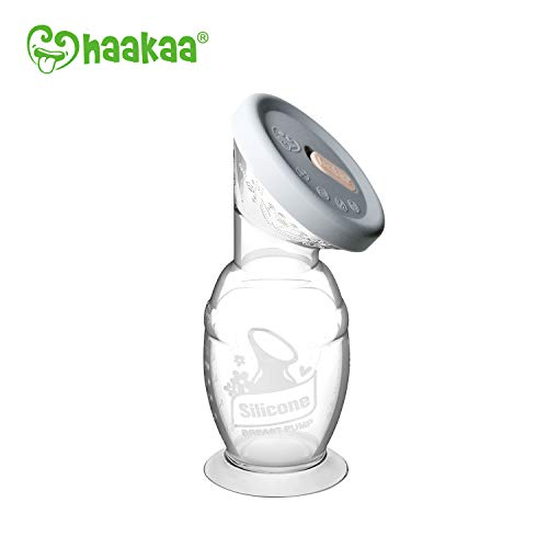 Haakaa Gen 2 Silicone Breast Pump with Suction Base and Leak-Proof Silicone Cap, 4 oz/100 ml, BPA PVC and Phthalate Free