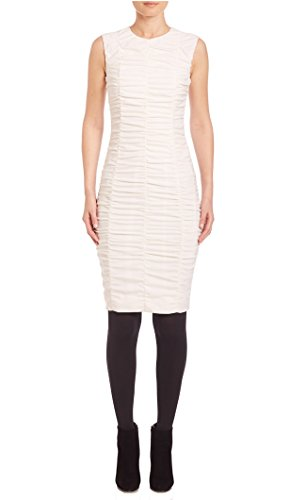 akris-punto-ruched-front-sleeveless-dress-in-cream-size-12