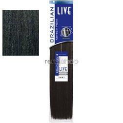 Sensationnel Live 100% Human Hair Keratin Remi Brazilian YAKI 10 Inch - 1B