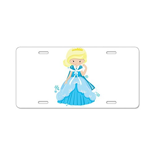 Aluminum License Plate Ice Princess Snowflake