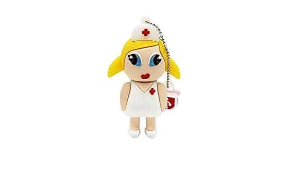 Unidad Flash USB Llavero Enfermera Capacidad Real 32 GB Pen ...
