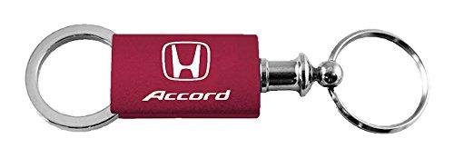 Honda Accord Red Burgundy Logo Metal Aluminum Valet Pull Apart Key Chain Ring
