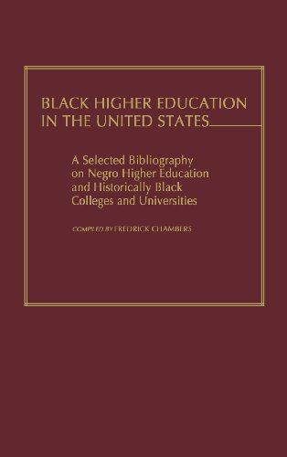 Search : Black Higher Education in the United States: A Selected Bibliography on Negro Higher Education and Historically Black Colleges and Universities