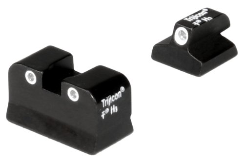 Trijicon 3 Dot Front And Rear Night Sight Set for Baby Eagle Jericho by Trijicon