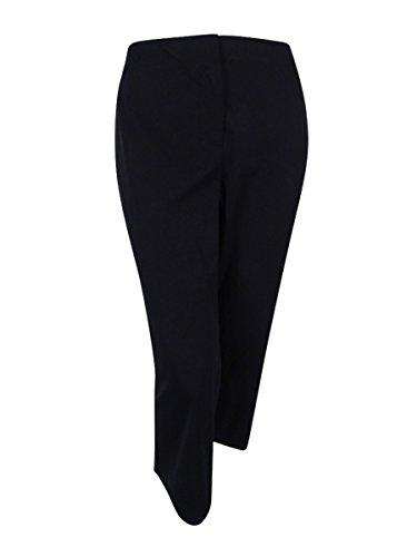 Alfani Womens Plus Control Waist Flat Front Cropped Pants Black 16W (Cropped Pants Flat Front)