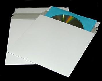 Amazon.com : 100 CD/DVD White Cardboard Mailers, Self Seal Mailers ...