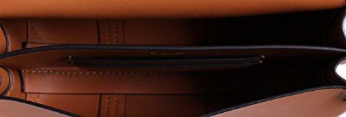T Tory Leather Block Aged Vachetta Mini in Burch Crossbody 4n1q6
