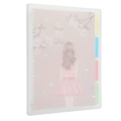 Steno Binder - Harphia B5 Notebook, Loose Leaf Binder with Grid Paper for Work Travel, 26 Rings(Girl, B5 10.8'' x 8.7'')