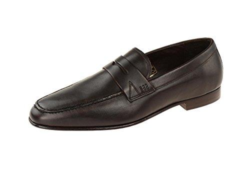 Gordon & Bros 623026 Brown - Mocasines de Piel Lisa para hombre marrón oscuro