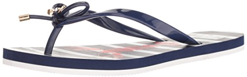 Kate Spade Women's Nova Flip-Flop French Navy Shiny Rubber fcZryw