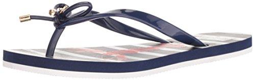 Shiny Flop Rubber Spade Navy French Flip Women's Nova Kate c80aRqI6q