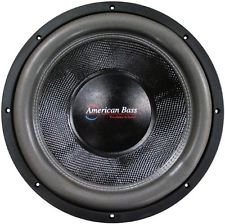 American Bass XFL1544 15' Dual 4 Ohm Competition Car Stereo Subwoofer