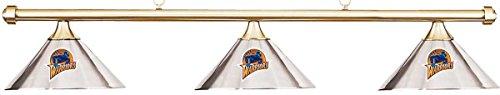 NBA Golden State Warriors Chrome Shade & Brass Bar Billiard Pool Table Light (Pool Warriors State Golden)