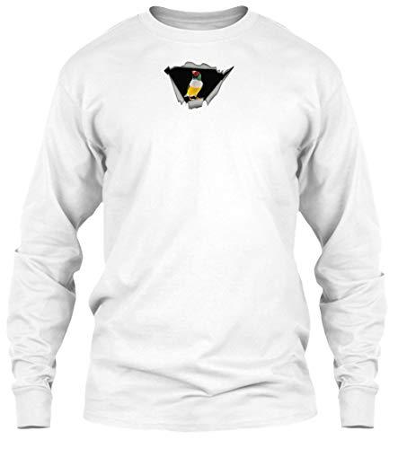 Finch Sticker S - White Long Sleeve Tshirt - Gildan 6.1oz Long Sleeve - Finch Sticker