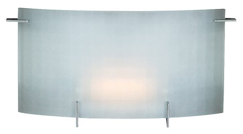 Access Lighting 62051-CH Oxygen 1-Light Wall/Vanity Sconce, Chrome with Checkered Frosted Glass ()