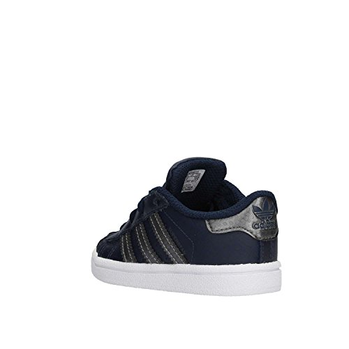adidas Unisex Baby Superstar Gymnastikschuhe, Weinrot Blau (Maruni/Nocmét/Maruni)