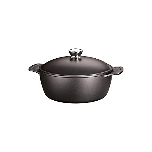 Tramontina LYON 5-Quart Induction-Ready Aluminum Dutch Oven with PFOA-Free Ceramic-Reinforced Nonstick, Onyx, Made in Brazil - -