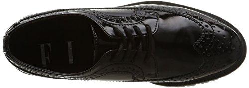 ElleAgency - zapatos derby mujer negro - negro