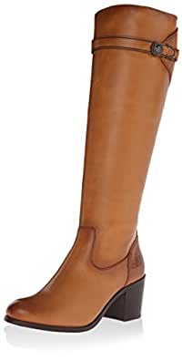 Frye Women's Malorie Button Tall Boot, Tan, 5.5 M US