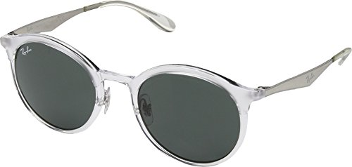 Ray-Ban RB4277 Emma Round Sunglasses, Transparent/Green, 51 mm (Ray Ban Sonnenbrillen Sale)
