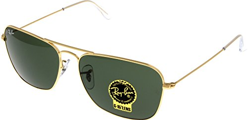 Ray Ban Sunglasses CARAVAN Aviator Gold Unisex RB3136 001 58