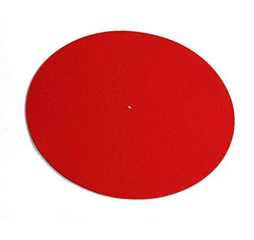 (Rega Mat Red Standard Wool Turntable Mat)