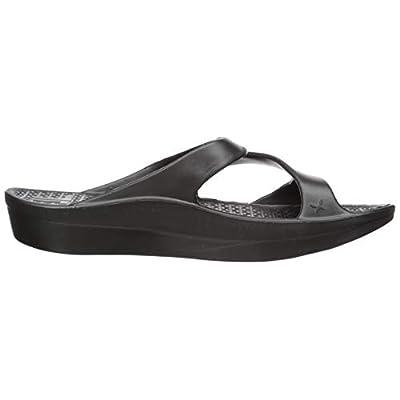 Z-Strap Soft Sandal Shoe Footwear by Telic, Midnight Black, 2XS | Sandals