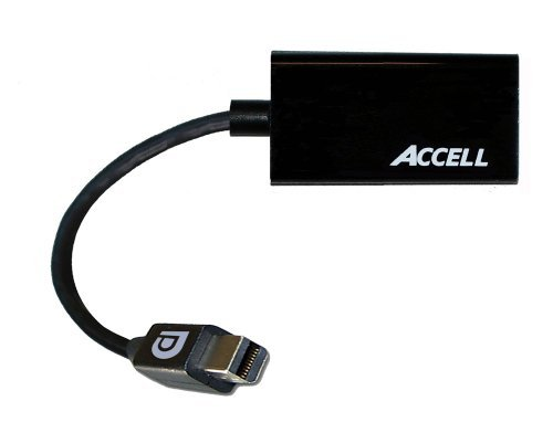 Accell Mini DisplayPort 1.1 to HDMI 1.4 Passive Adapter - 4K UHD @30Hz, 1920x1440@60Hz - Poly Bag Package