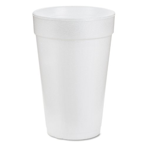 Dart 16J16 16 oz Foam Cup, 16 Series Lids (Case of 1000) Cold Foam Cups Case